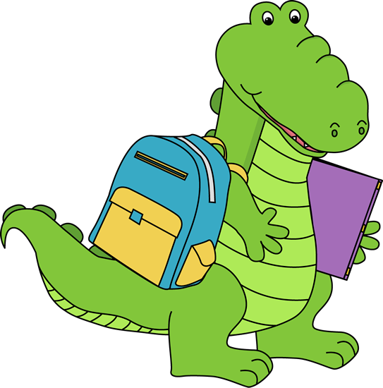 Alligator Going to School