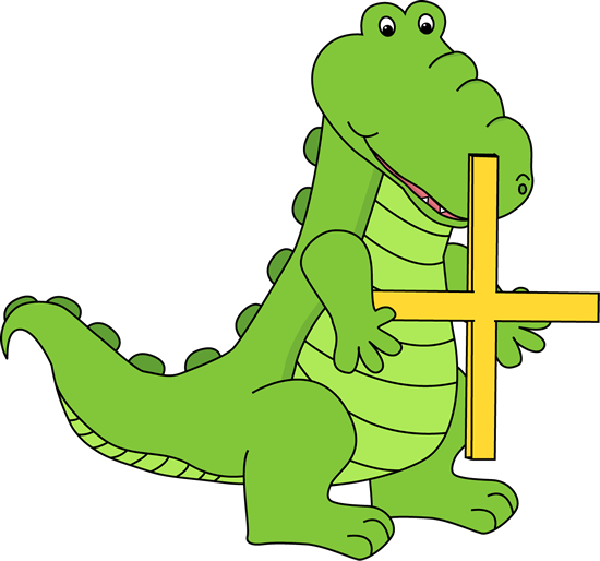 Alligator Holding an Addition Symbol