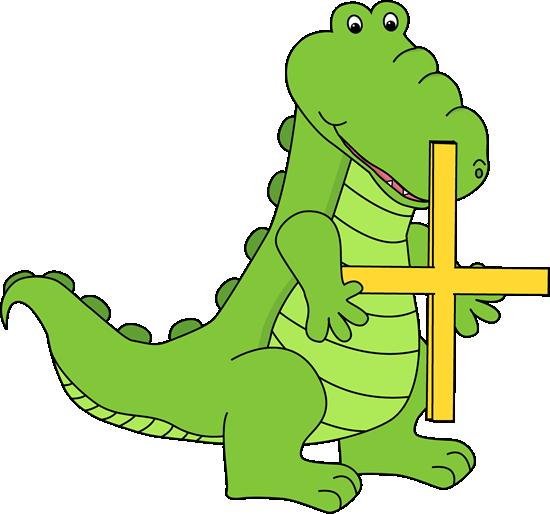 Alligator Holding an Addition Symbol