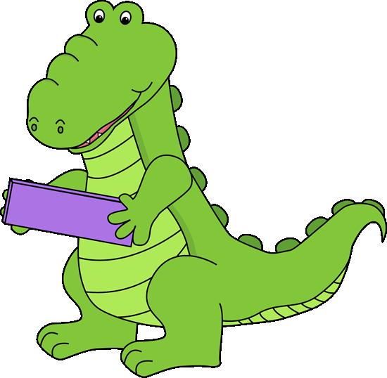 Alligator Holding a Minus Symbol