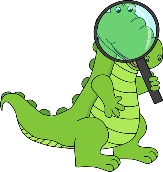 Alligator Looking Through Magnifying Glass