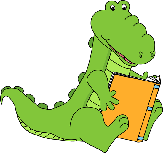 Alligator Reading a Book
