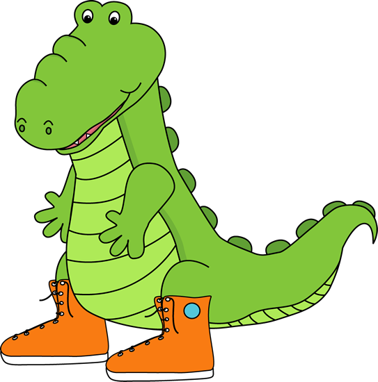 Alligator Wearing Sneakers