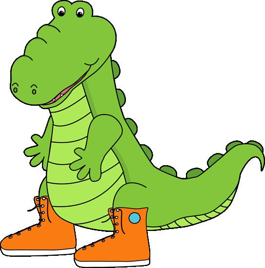 Alligator Wearing Sneakers