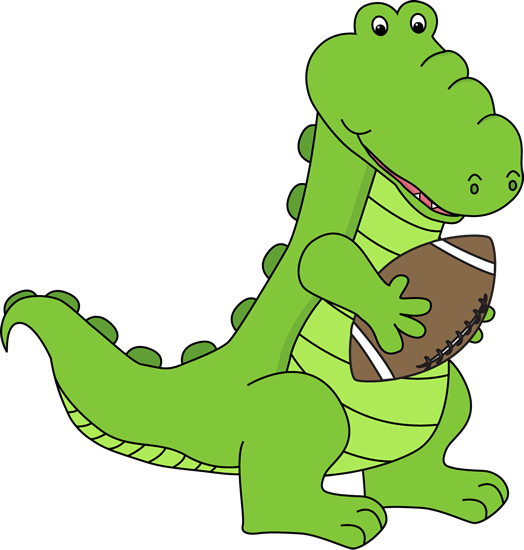 Alligator With a Football
