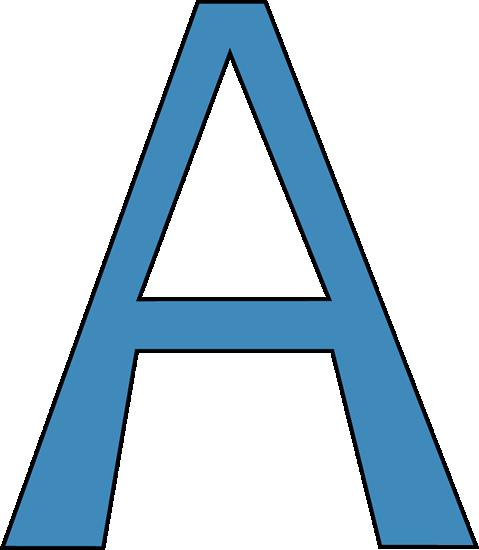 Blue Alphabet Letter A Clip Art - Blue Alphabet Letter A Image