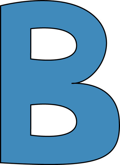 Blue Alphabet Letter B
