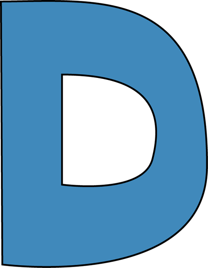 Blue Alphabet Letter D Clip Art - Blue Alphabet Letter D Image