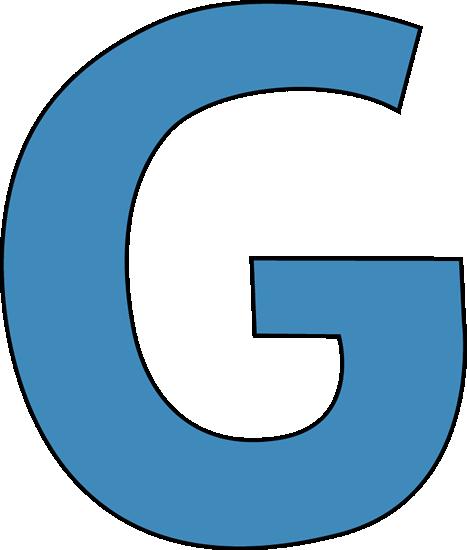G  Blue Alphabet Letter G...