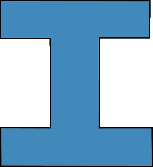 Blue Alphabet Letter I