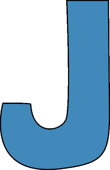 Blue Alphabet Letter J