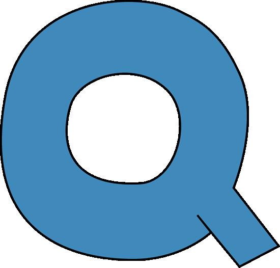 Blue Alphabet Letter Q