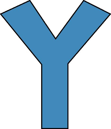blue alphabet letter y clip art - blue alphabet letter y image
