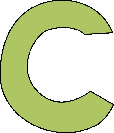 Green Letter C Clip Art - Green Letter C Image