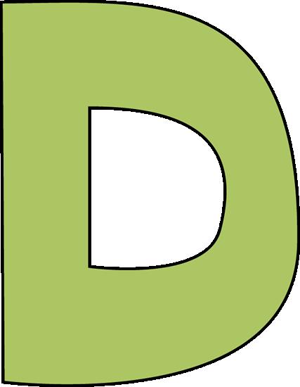 Green Letter D Clip Art - Green Letter D Image
