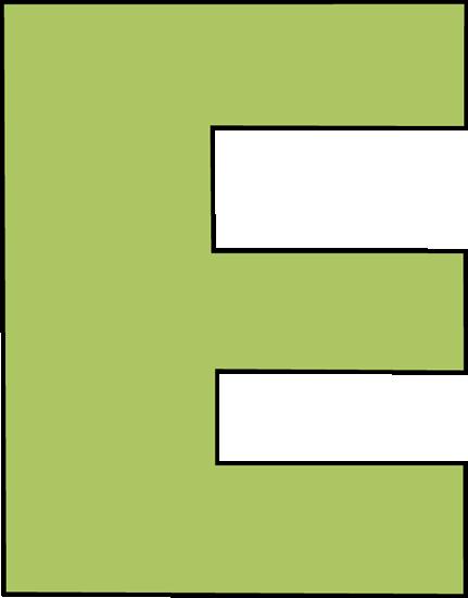 Green Letter E Clip Art - Green Letter E Image