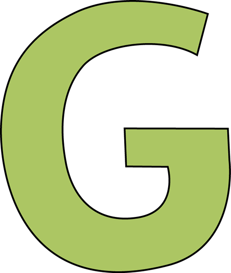 G  Green Letter G Clip Ar...