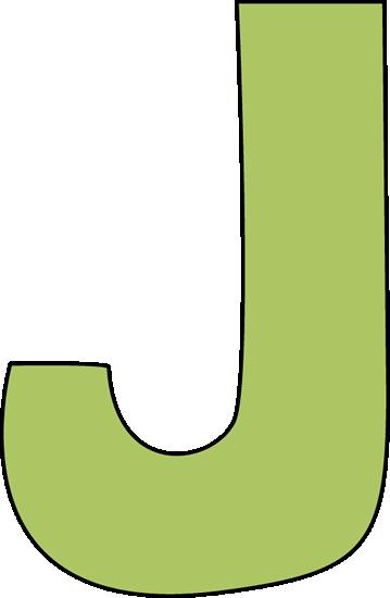 Green Letter J Clip Art - Green Letter J Image