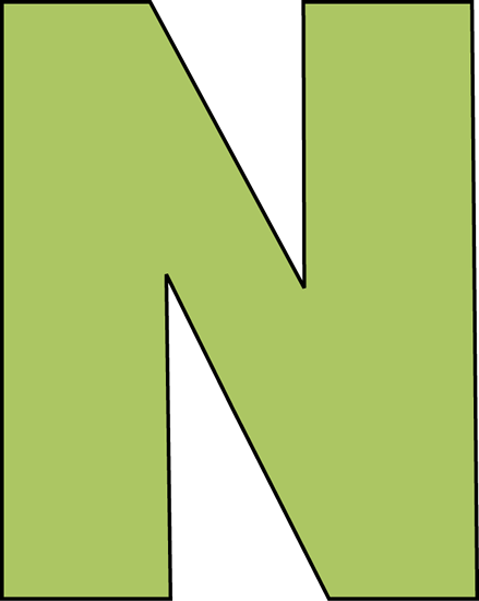 N Green Letter N Clip Ar...