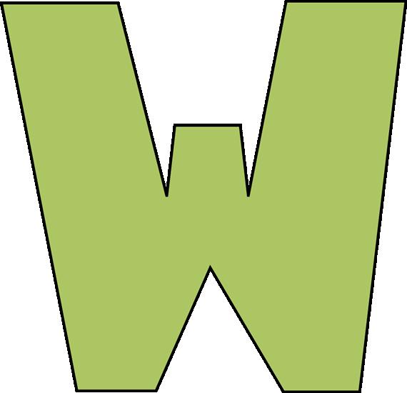 Letter W Clip ArtLetter W Clipart