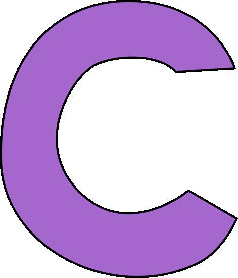 Purple Letter C Clip Art - Purple Letter C Image