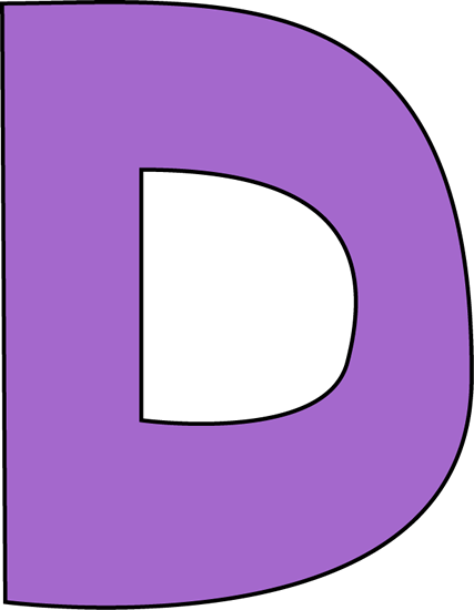 Purple Letter D Clip Art - Purple Letter D Image