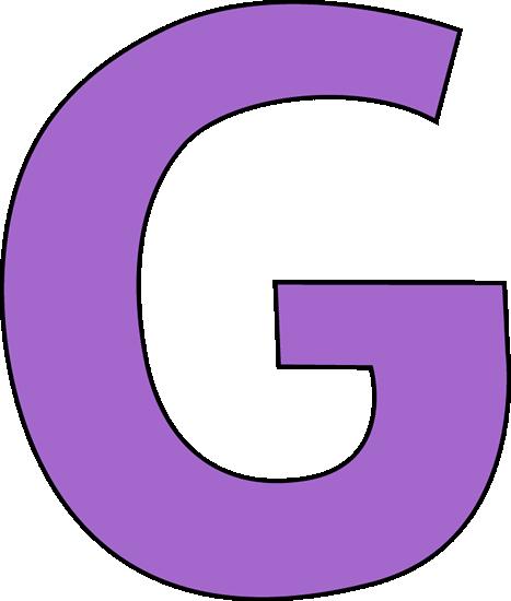 Purple Letter G Clip Art Image - large purple capital letter G.