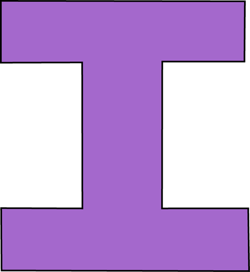 purple letter i clip art purple letter i image