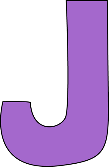 Purple Letter J Clip Art - Purple Letter J Image
