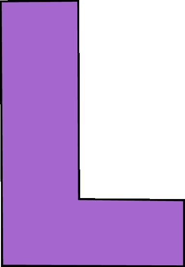 Purple Letter L Clip Art