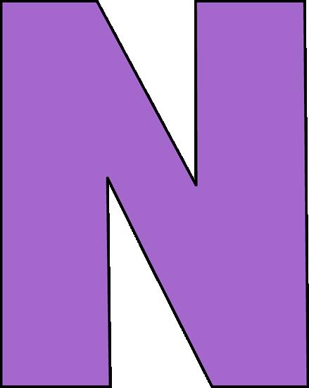 Purple Letter N Clip Art - Purple Letter N Image