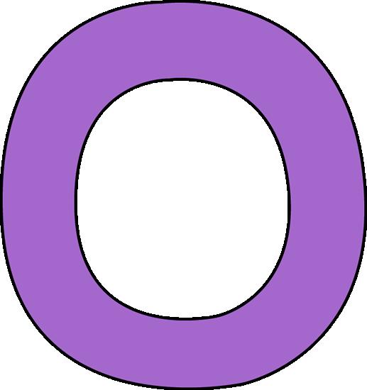 Purple Letter O Clip Art