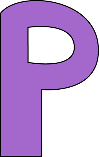 Purple Letter P  P & L Template