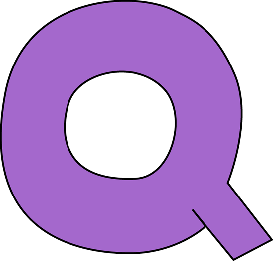 Purple Letter Q Clip A...