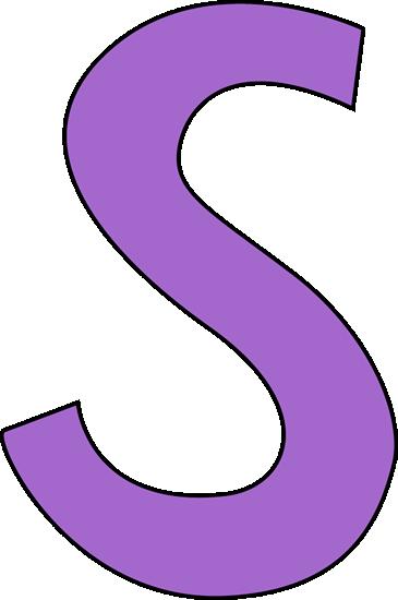 Purple Letter S