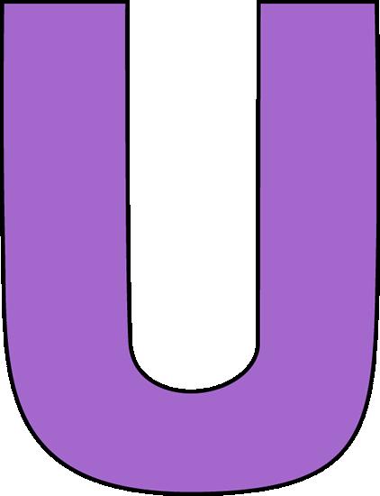 Purple letter u clip art image large purple capital letter u