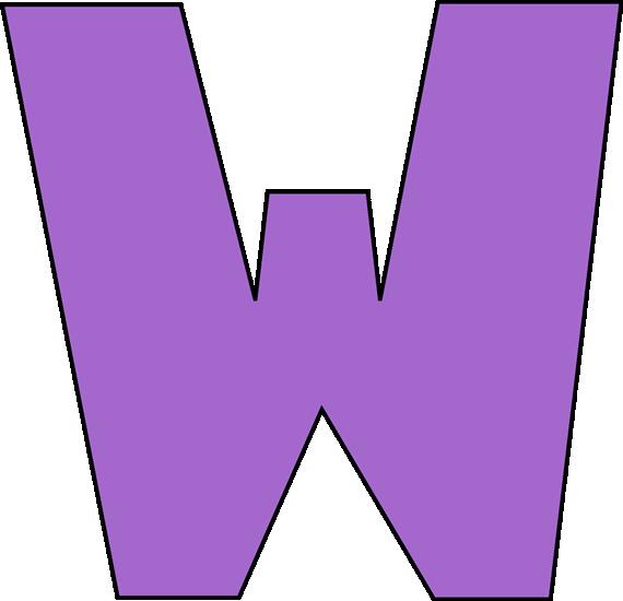 Purple Letter W Clip Art Image - large purple capital letter W Letter W Clipart