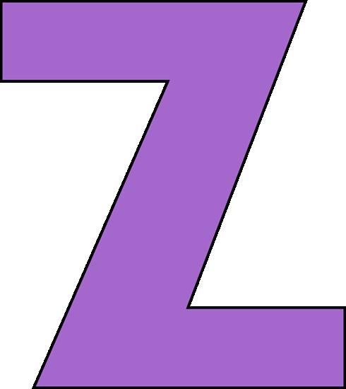 Purple Letter Z Clip Art - Purple Letter Z Image