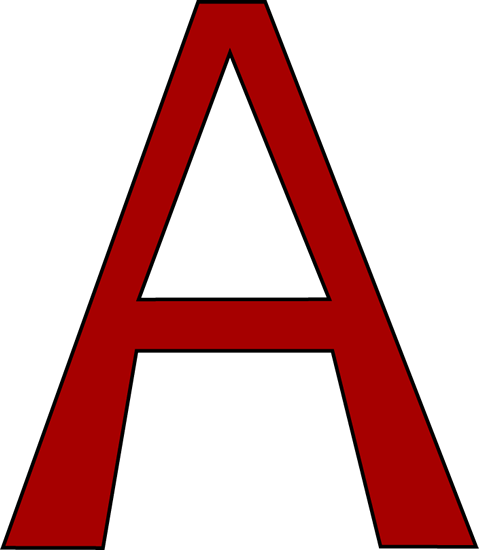 Red Letter A Clip Art Red Letter A Image