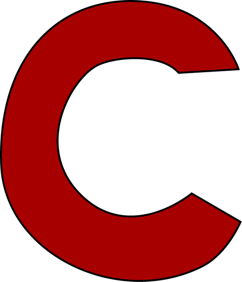Capital Letter C Red letter c clip art image