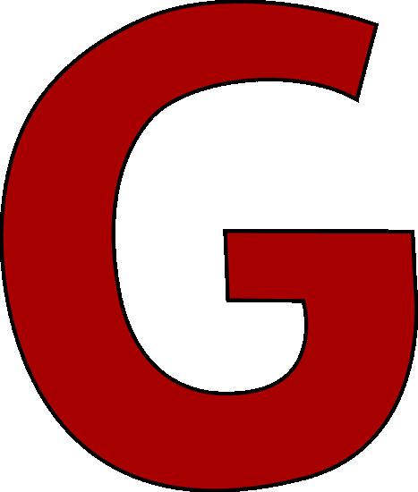 G  Red Letter G Clip Art ...
