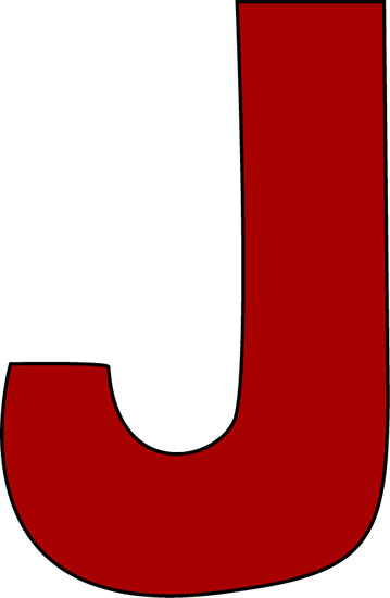 Red Letter J Clip Art - Red Letter J Image-9928