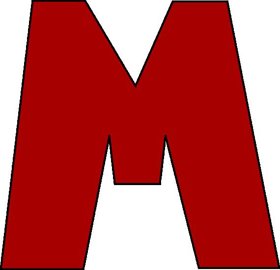 Red Letter M Clip Art