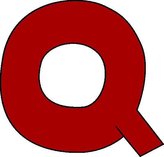 Red Letter Q Clip Art ...