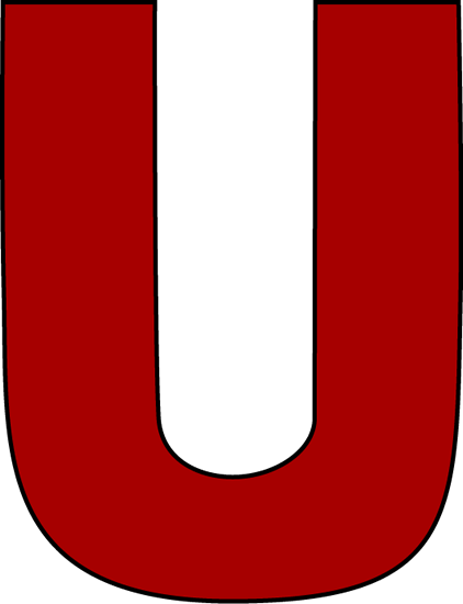 Red Letter U Clip Art Red Letter U Image