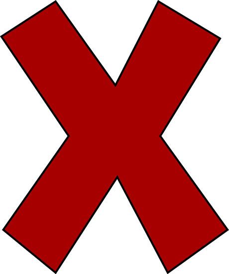 Red Letter X Clip Art Red Letter X Image