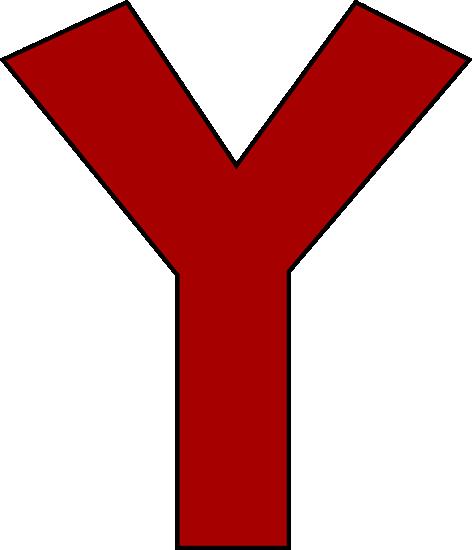 Red Letter Y Clip Art - Red Letter Y Image