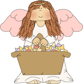 Angel beautiful. Clip art image