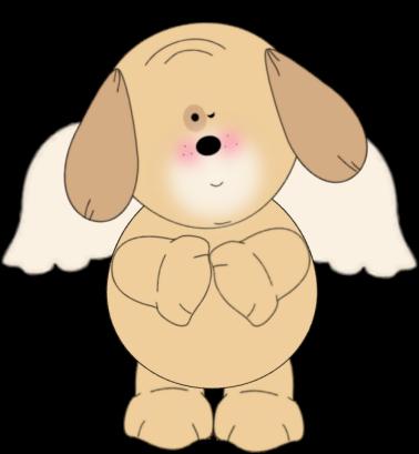 Winking Puppy Angel
