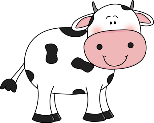 Cow with Black Spots Clip Art - Cow with Black Spots Image